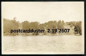 2607 - DWIGHT Ontario 1910s Muskoka Lumina Resort from Lake. Real Photo PC