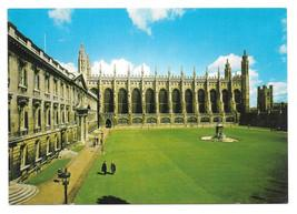 UK Cambridge King's College Chapel and Gibbs Building Vtg 4X6 Postcard