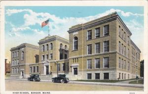 BANGOR, Maine, PU-1928; High School, Classic Cars