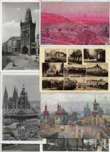 Czech Republic Postcard Lot of 50 With RPPC Jaroměř Prague Slaný And More 01.01