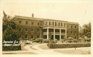 Boone Iowa Swedish Old Folks Home 1940s RPPC Photo Postcard 4790