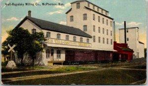 McPherson, Kansas Postcard Wall-Rogalsky Milling Co. Mill Elevator 1927 Cancel