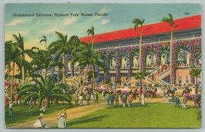 Miami Florida~Grandstand Entrance~Hialeah Park~Horse Races~Vintage Postcard