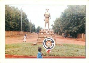 Burkina Faso monument du paysan noir province de la Comoe postcard