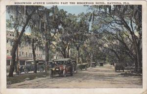 Florida Daytona Ridgewood Avenue Looking Past The Ridgewood Hotel1922