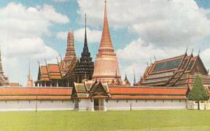 Thailand Thai Chapel Royal Buddhist Grounds Garden Inner Court Vintage Postcard