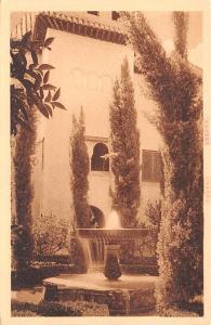 Spain Old Vintage Antique Post Card Patio de los Naranjos Granada Unused