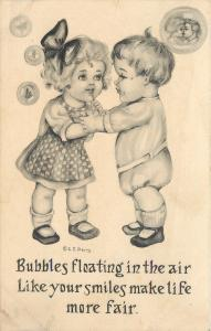 Romantic Kids~Bubbles Floating~Like Your Smiles~Life More Fair~Artist CE Perry
