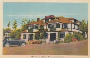 WASAGA BEACH, Ontario, Canada, 1930s; Wasaga Inn, Red Sign