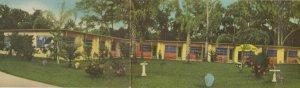DAYTONA BEACH, Florida , 1930-40s ; Peachtree Hotel Court ; 4 panel Panorama