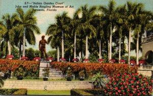 Florida Sarasota Ringling Art Museum Italian Garden Court Curteich