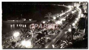 Nice - Promenade des Anglais - the night - Old Postcard