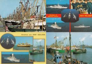Den Helder Boats Holland 4x Postcard s