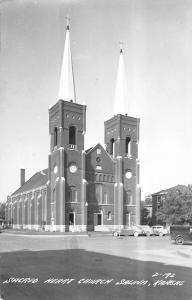 Salina Kansas Sacred Heart Church Real Photo Antique Postcard K94832