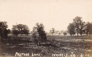 Waverly Iowa~Pasture Land~Real Photo Postcard 1907-1914