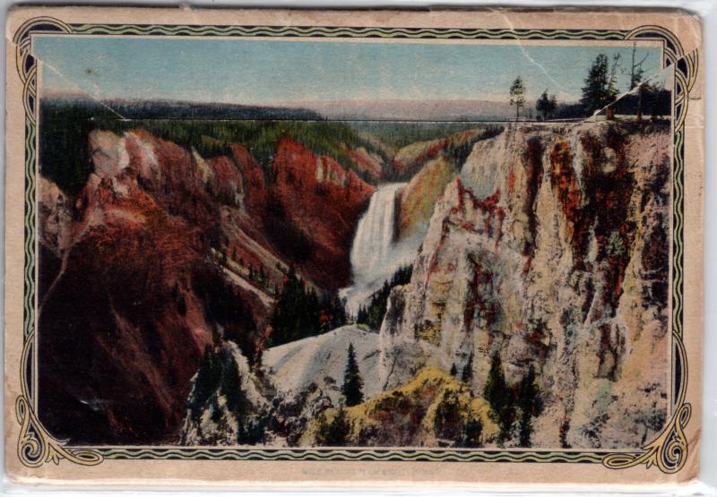YELLOWSTONE NATIONAL PARK, SOUVENIR FOLDER, SERIES B, 1915.