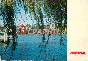 Postcard Modern Iberia Lineas Aereas de Espana Ginebra Suiza Iberia vuela dia...