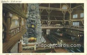 Old Faithful Inn Office, Yellow Stone National Park. Wyoming, WY USA Hotel Po...
