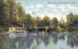 LIMA, Ohio, PU-1910; Boat Landing, Hover Park
