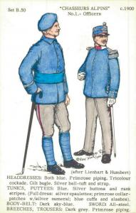 Military - Postcard Chasseurs Alpins Officers 1900 02.11