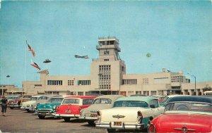 Automobiles Burbank California Lockheed Air Terminal Colorpicture Postcard 11606
