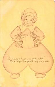 Valentines Day Post Card Old Vintage Antique Postcard unused