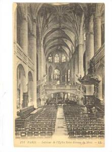 Interieur De l'Eglise Saint-Etienne Du Mont, Paris, France, 00-10s