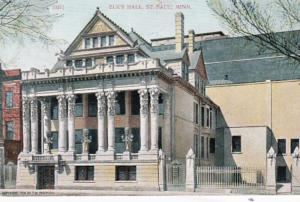 Minnesota St Paul Elk's Hall 1909