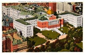Massachusetts  Boston , Aerial view Boston Common and State House