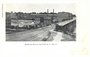 18977   NY Fulton   Aerial view of Woolen Mills