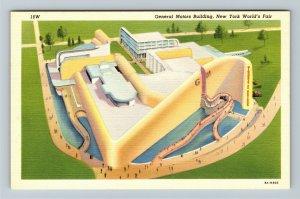 1939 New York World's Fair - General Motors Building - Linen Postcard