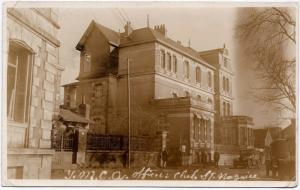 1918 RPPC St. Nazaire France WWI Y.M.C.A. US Officer's Club Real Photo Postcard