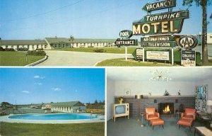 TURNPIKE MOTEL & COFFEE SHOP Mapleshade, NJ Roadside c1960s Vintage Postcard