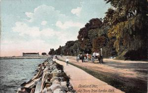 Gordon Park, Lake Shore Drive, Cleveland, Ohio, Early Postcard, Unused