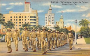 LP25   Miami Beach Florida Postcard Army Air Forces  Off to Study Military