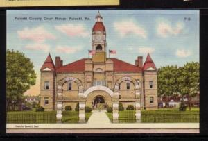 Virginia Post Card County Court House Pulaski