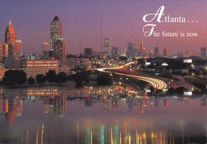 Skyline At Night Atlanta Georgia