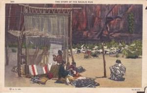 Story of the Navajo Rug - American Indian Craft - Linen