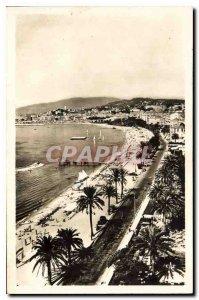 Modern Postcard Cannes Beach and the Promenade de la Croisette