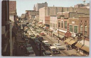 Memphis, Tenn., A very busy Beale Street - 1950's