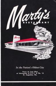 Florida St Augustine Marty's Restaurant
