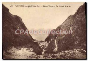 Postcard Old Vattetot-sur-Mer On Etigue Beach Descent To The Sea