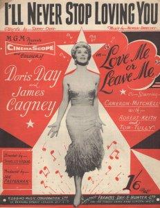 I'll Never Stop Loving You Doris Day 1950s Sheet Music