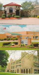 (3 cards) Honeoye Falls - Lima Schools NY, New York - Manor, Middle, High School