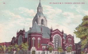 LINCOLN, Nebraska, PU-1911; St.Paul's M. E. Church