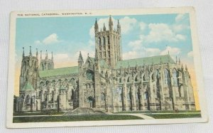 1925 Postcard The National Cathedral, Washington D.C. Full Color Unposted Good!