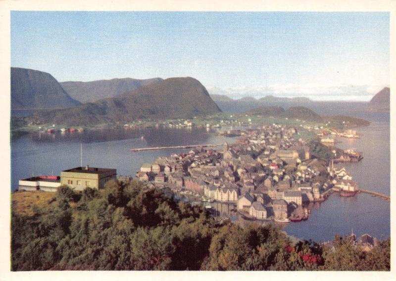 Vintage Norway Postcard, Alesund View from Aksla Z60