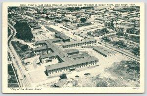 Oak Ridge TN~Birdseye Hospital~Dormitories & Town~Atomic Bomb City~1947 Linen