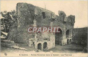 Old Postcard Guelma Roman ruins in the Casbah Spa