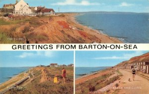 Vintage Hampshire Multi View Postcard, Greetings from Barton On Sea FN5